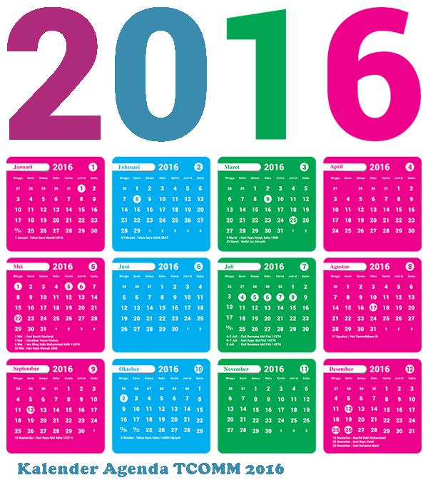 Kalender Agenda TCOMM 2016