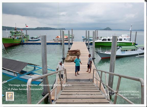 Gaet Wisatawan Bahari dengan Dermaga Apung Aquatec